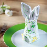 Donkey Products Origami-Stoffservietten 2er-Set Happy Easter