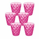Koziol Becher Crystal S 6er Set transparent pink