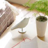 Wecker Bird Clock hellbraun