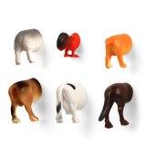 Kikkerland Magnete 6er Set Farm Animal Butt Magnets