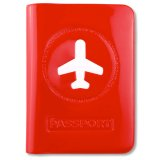Alife Design Etui für Reisepass Happy Flight rot