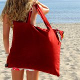 Hhooboz Pillowbag L red/grey