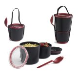 black+blum Lunch Pot schwarz/rot