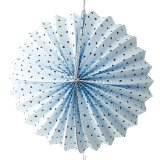 Miss Étoile Papierdekoration Lampion Ball blau