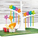 Koziol Party Piekser Set A-Pril mit Baum transparent oliv/orange/lagune/pink