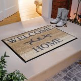 Wash & Dry Fußmatte Welcome Home beige