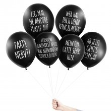 6er Set Anti-Party Ballons Depri Disko