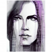 Bild Rebekka Ivácson - Pensive girl purple 1