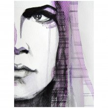 Bild Rebekka Ivácson - Pensive girl purple 2