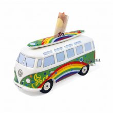 Spardose VW Bus mit Surfbrett Peace