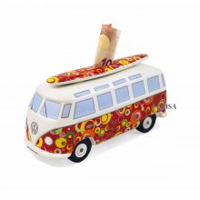 Spardose VW Bus mit Surfbrett Bubble