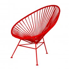 Lounge-Sessel Acapulco Chair Monochrom rot