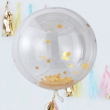 3er-Set XL Konfetti-Ballon gold