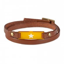 Armband Mika Stern cognac/orange