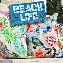 Kissen Beach Life Outdoor 50x50cm Paradise 01