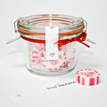Bonbons I love you im Weckglas