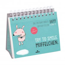 Das Postkartenbuch Happy me Try to smile