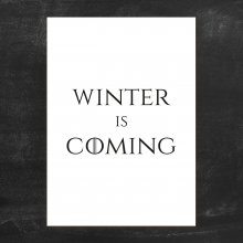 Poster Winter is Coming