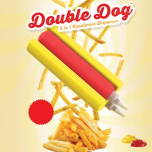 Ketchup- & Senf-Spender Double Dog