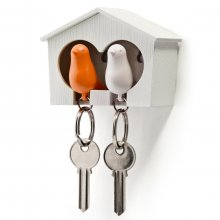 Schlüsselring Duo Sparrow Key Ring weiß-orange