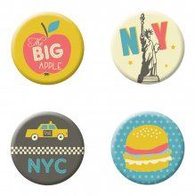 Fernweh Magnete New York 4er-Set