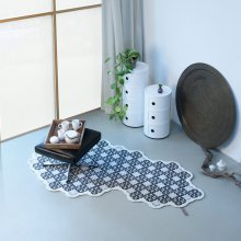 Wollteppich Tiles grey pepper/mango