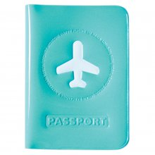 Etui für Reisepass Happy Flight blau