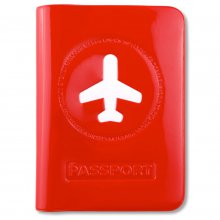 Etui für Reisepass Happy Flight rot