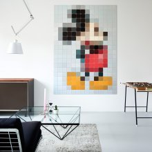 Wanddekoration Mickey Mouse Pixel