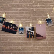 Thumbs Up LED-Lichterkette Foto-Clip
