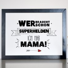 Kunstdruck Superhelden Mama Din A4