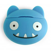 Zahnseidespender Monster Floss blau