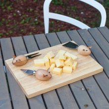 Käse-Set Mouse Cheese Board
