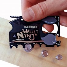 Wallet Ninja 18-in-1 Multi-Tool mit Gravur