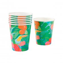 Pappbecher Tropical Fiesta 12er-Set