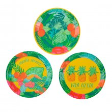 Pappteller Tropical Fiesta 12er-Set