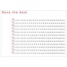 Postkarte Save the Date