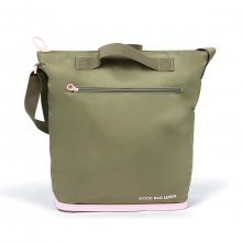 Schultertasche Good Bag khaki/pink