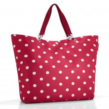 Shopper XL ruby dots