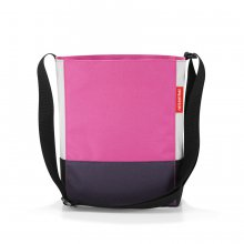 Shoulderbag S patchwork magenta