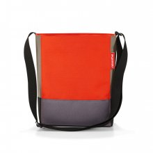 Shoulderbag S patchwork mandarin