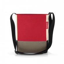 Shoulderbag S patchwork red