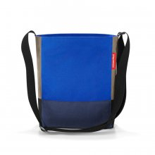 Shoulderbag S patchwork royal blue