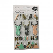 3D Sticker Set Deer Xmas