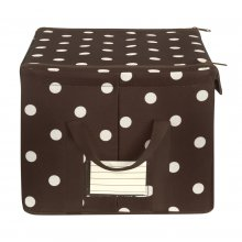 Storagebox M mocha dots