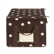 Storagebox S mocha dots