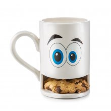 Keks-Becher Mug Monster weiß