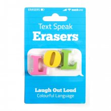 Radiergummis 3Stk. Text Speak Erasers LOL