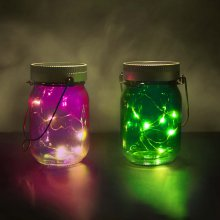 Thumbs Up Solar-Stimmungslichter Fairy Jars 2er-Set