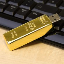 Personalisierbarer USB-Stick Goldbarren 8GB